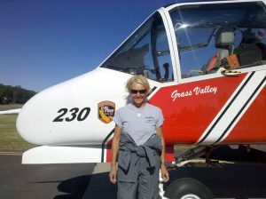 Patty Wagstaff with CAL Fire OV-10